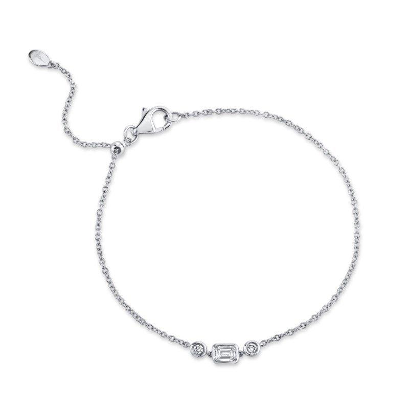 Shy Creation White Gold Diamond Bolo Bracelet