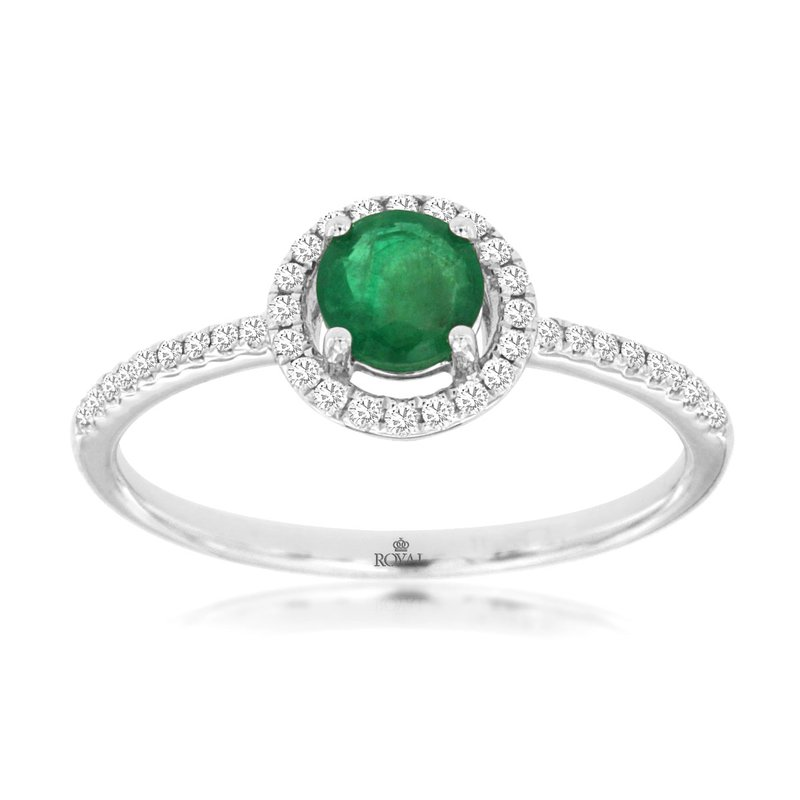 Lauray's Signature Collection White Gold Emerald Ring