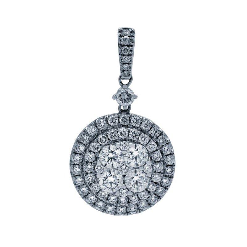 Lauray's Signature Collection White Gold Diamond Pendant