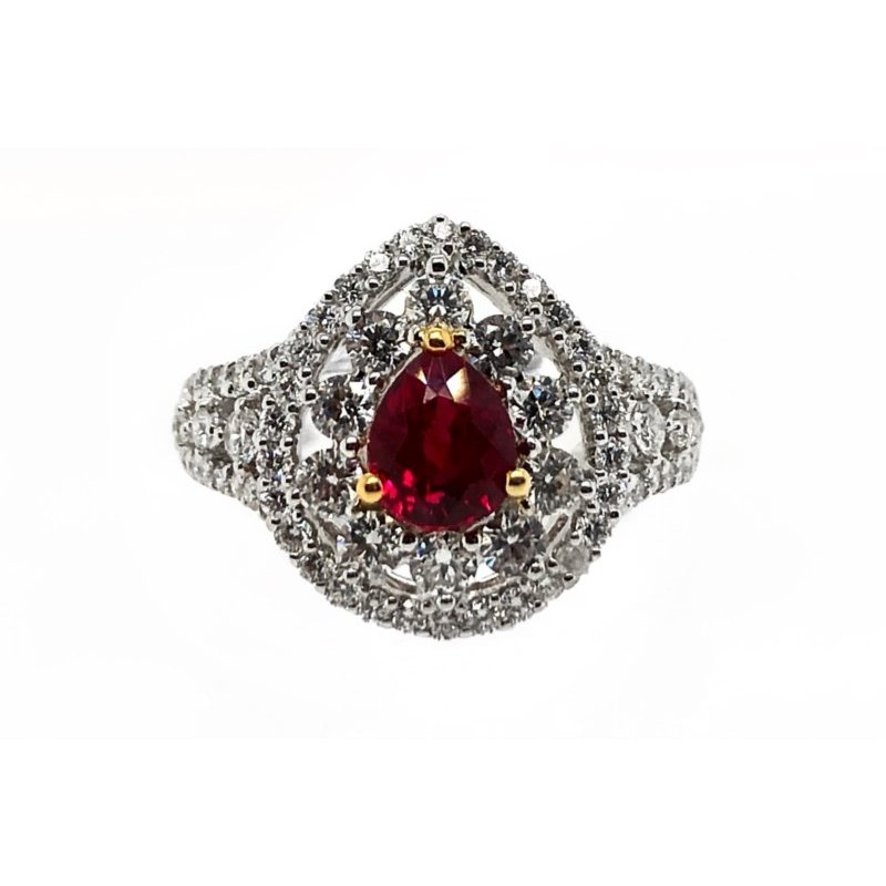 Lauray's Signature Collection White Gold Ruby Ring