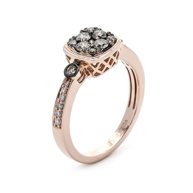 Lauray's Signature Collection Rose Gold Diamond Ring