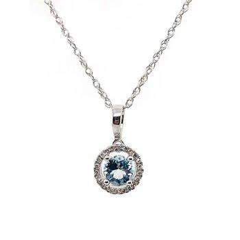 March Birthstone Aquamarine Necklace
