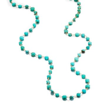 Turquoise Diana Coin Necklace