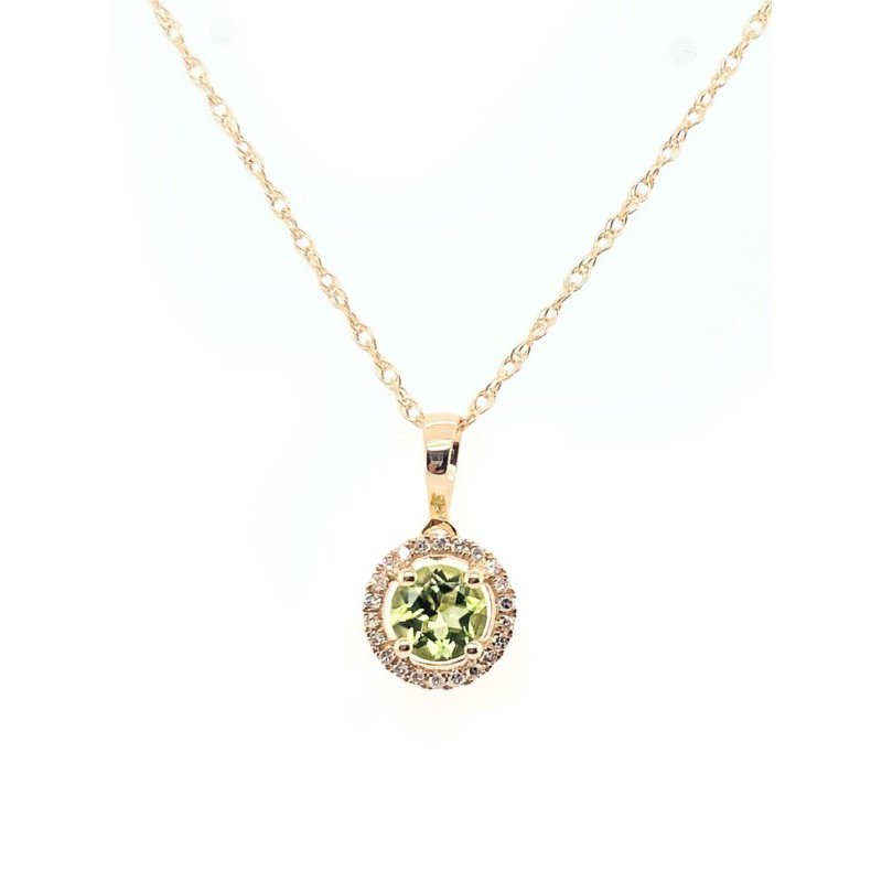 Lauray's Signature Collection August Birthstone Peridot Necklace