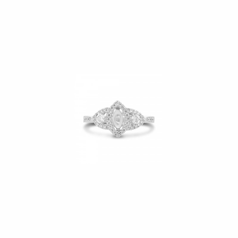 Lauray's Signature Collection Diamond Marquise Semi Mounting