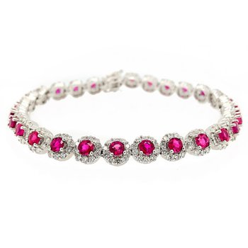 Diamond & Ruby Tennis Bracelet