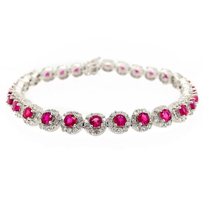 Lauray's Signature Collection Diamond & Ruby Tennis Bracelet