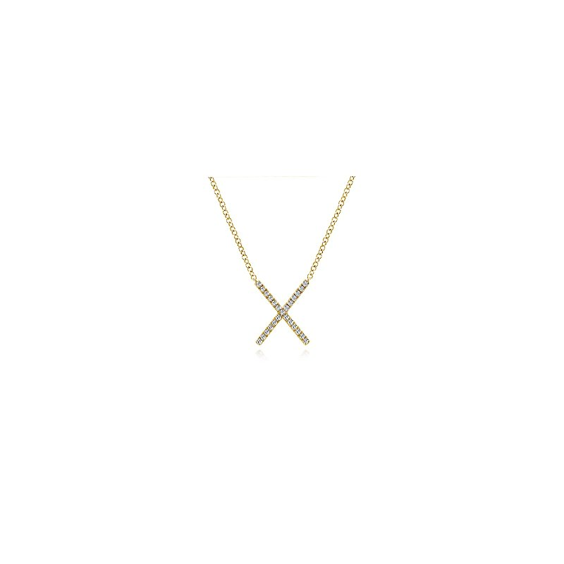 Gabriel Catalog Diamond X Necklace