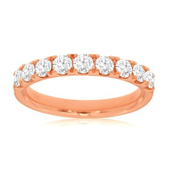 Lady's Rose Gold Diamond Wedding Band