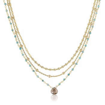 Lina Turquoise Layered Necklace