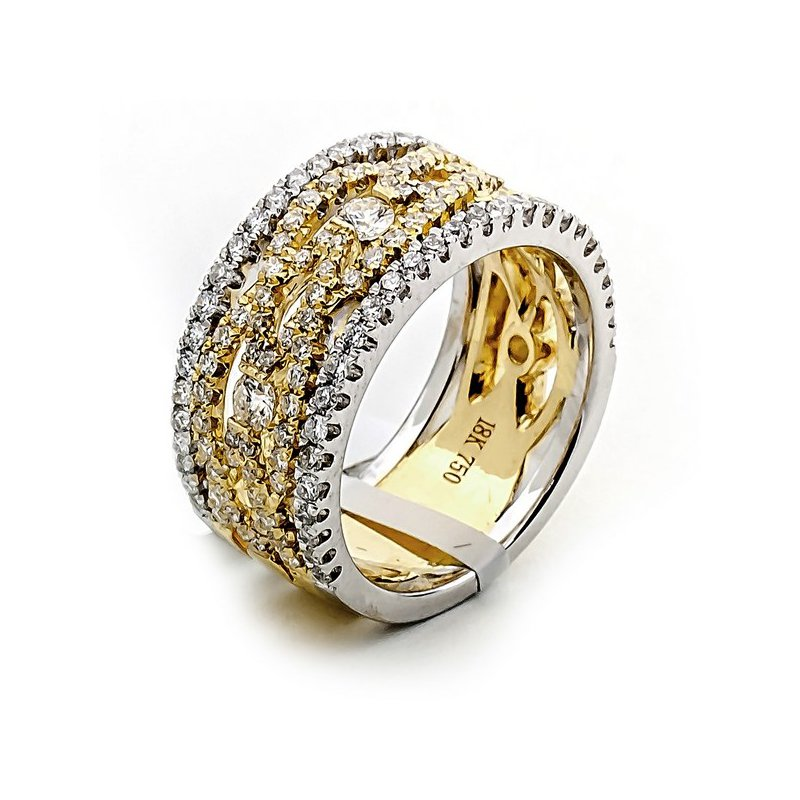 Lauray's Signature Collection Two-Tone Fashion Diamond Band