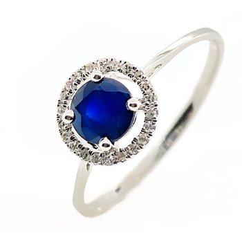 September Birthstone Blue Sapphire Ring