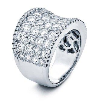 White Gold Diamond Wide Band