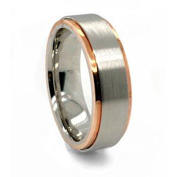 Cobalt Chrome Rose Gold Band