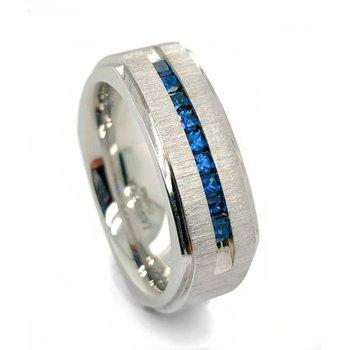 Cobalt Chrome Sapphire Band