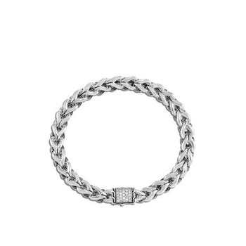 Asli Classic Chain Link Bracelet with Diamonds