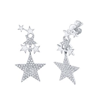 Diamond Star Earring Dangle
