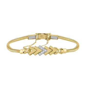 Kasper & Esh Yellow Gold Diamond Add-A-Link Chevron Starter