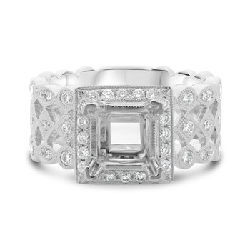Diamond Semi Mounting Ring