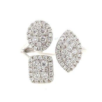 White Gold Diamond Fashion Ring