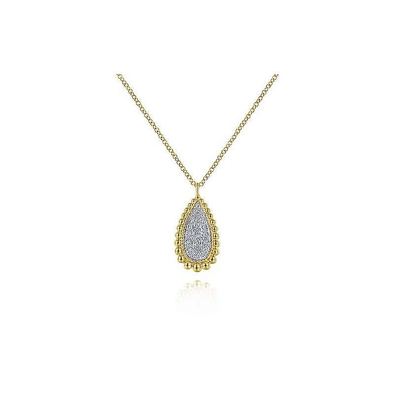 Gabriel & Co. New York Teardrop Diamond & Beaded Pendant Necklace