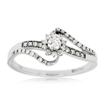 Diamond Split Band Halo Engagement Ring