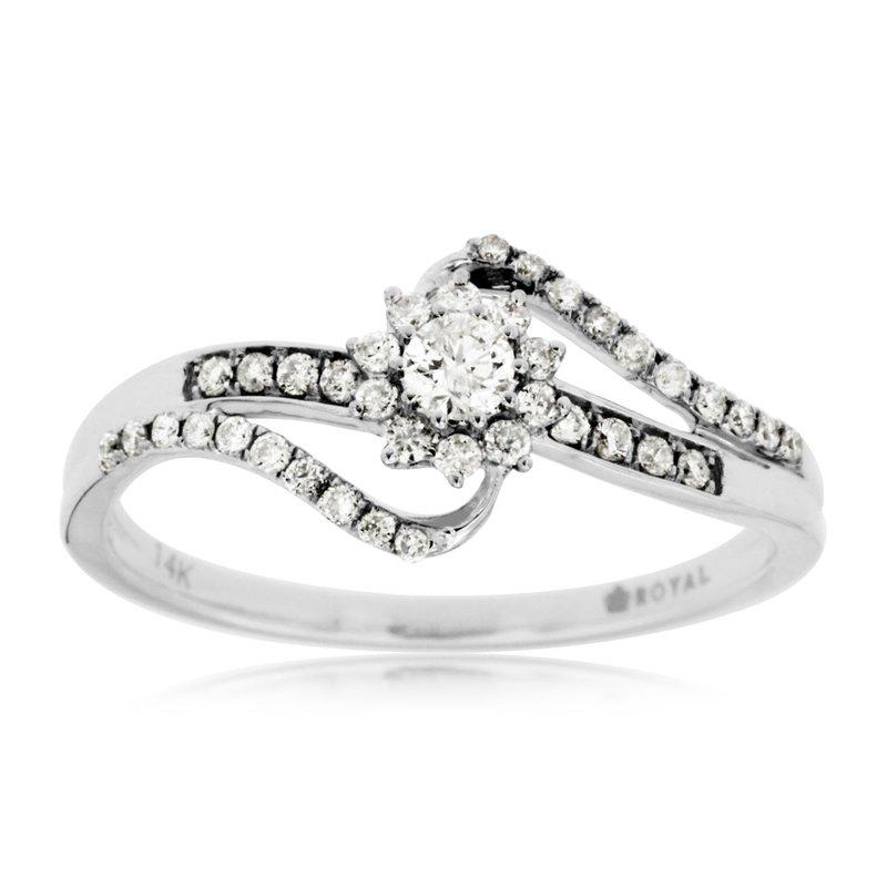 Murphy Pitard Signature Collection Diamond Split Band Halo Engagement Ring
