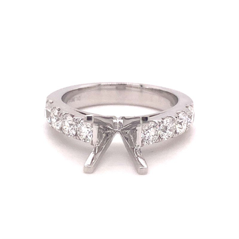 Murphy Pitard Signature Collection Round Diamond Accented Engagement Ring