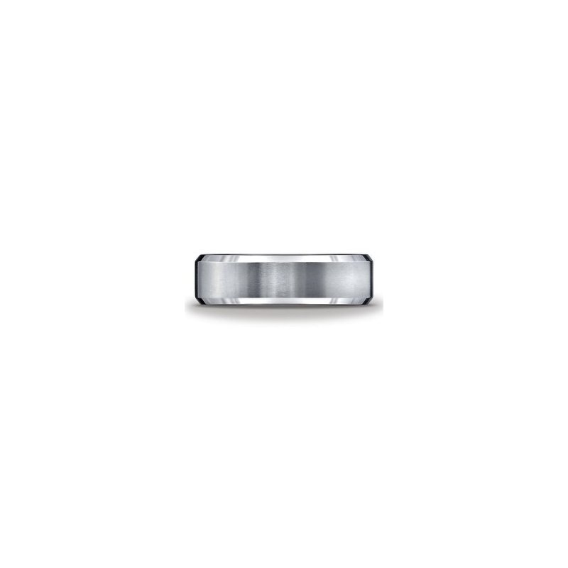 Murphy Pitard Signature Collection Tungsten Beveled Edge 6 Millimeter Band, Size 8