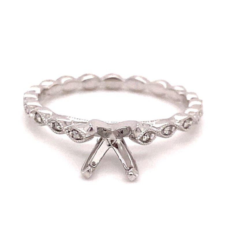 Murphy Pitard Signature Collection Round Diamond Marquise Design Engagement Ring