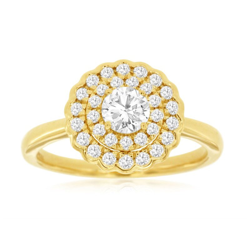 Murphy Pitard Signature Collection Double Halo Engagement Ring