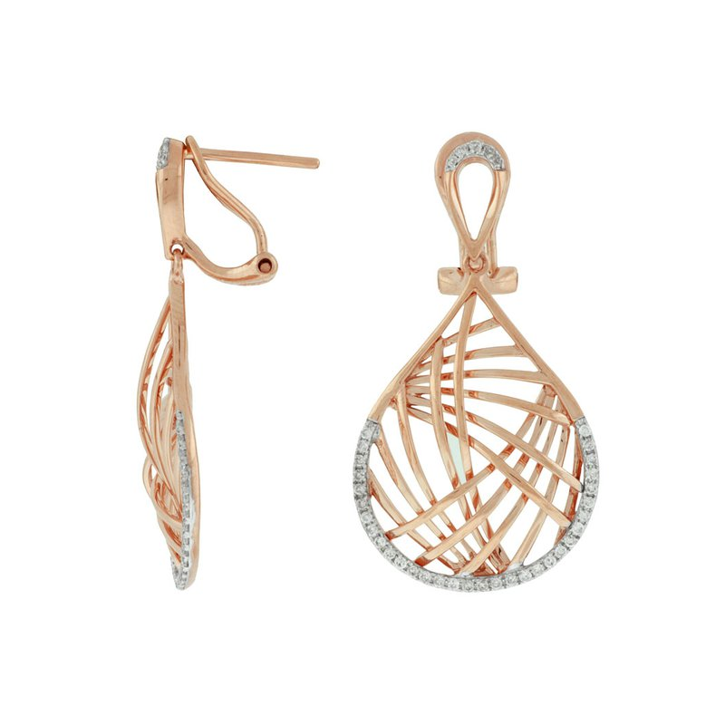 Murphy Pitard Signature Collection Diamond Dangle Fashion Earrings
