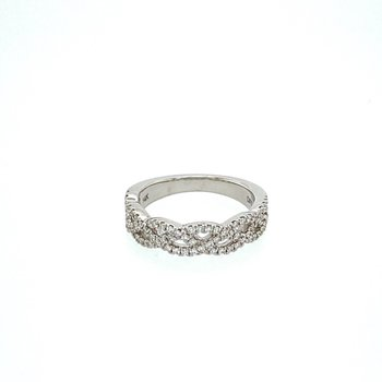 Open Weave Diamond Band