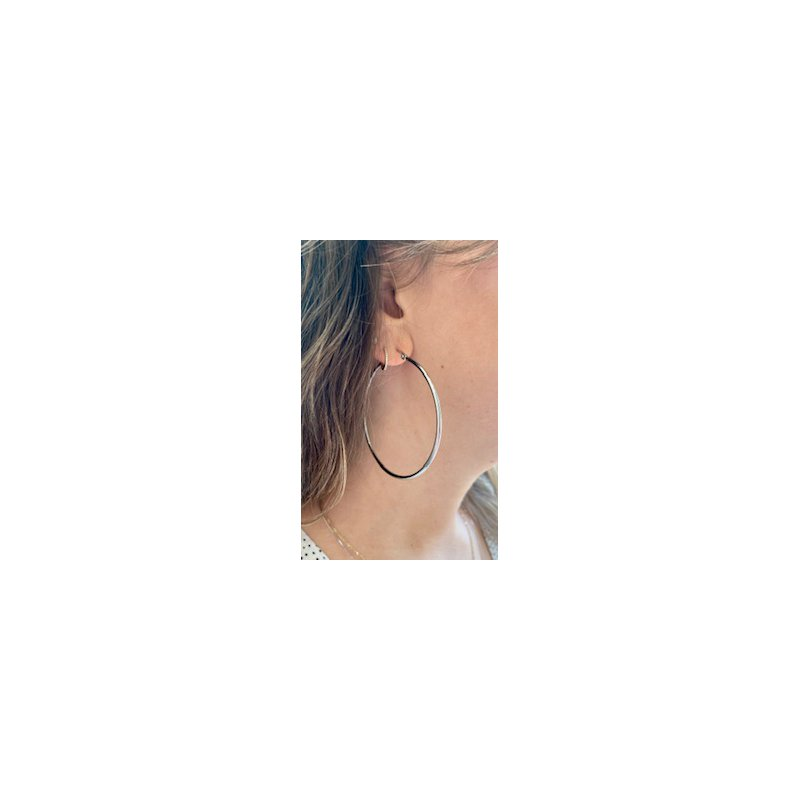Murphy Pitard Estate Collection Large Gold Hoop Earrings