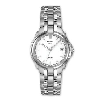 Stainless Steel Murphy Pitard Watch With White Dial