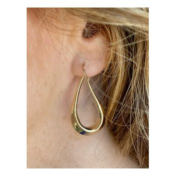 Polished Gold Hoop Earrings