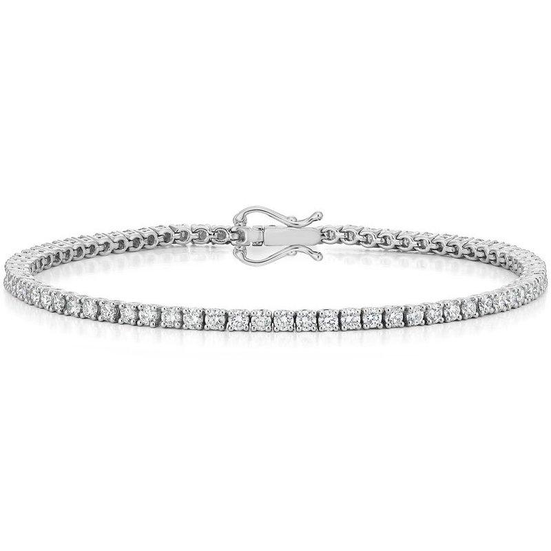 Murphy Pitard Signature Collection Round Diamond 3 1/4 Carat Tennis Bracelet
