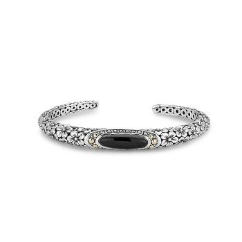 Black Onyx Floral Bracelet