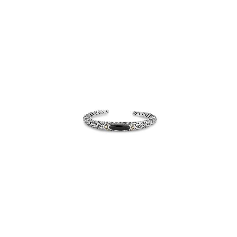 Samuel B. Black Onyx Floral Bracelet