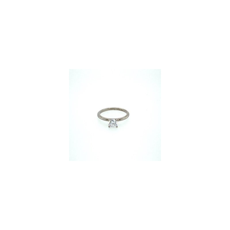 Murphy Pitard Signature Collection White Gold Solitaire Ring