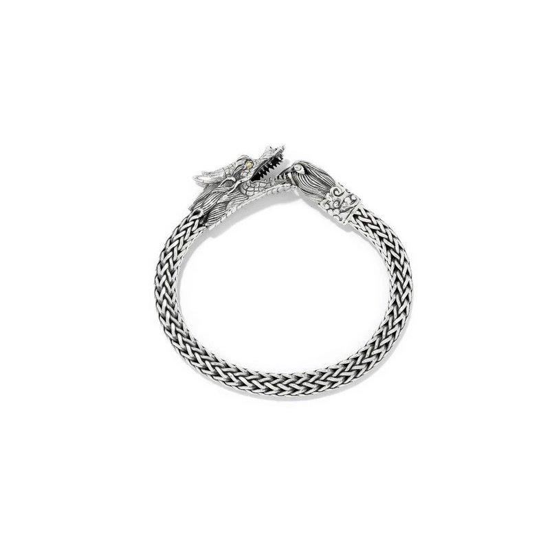 Samuel B. Dragon Leather Bracelet