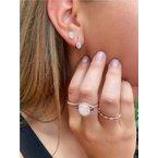 Murphy Pitard Signature Collection Opal & Diamond Halo Drop Earrings