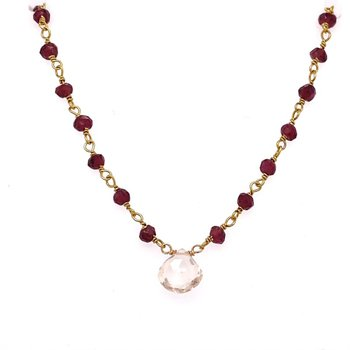 Garnet and Brown Topaz Lori Necklace