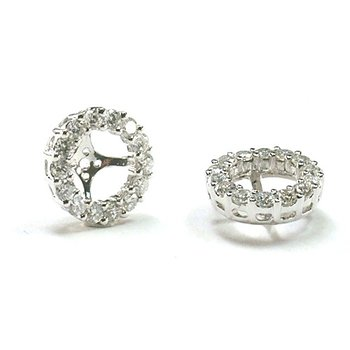 Diamond Halo 1/5 Carat Earring Jackets