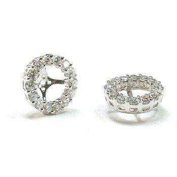Diamond Halo 1/5 Carat Earring Jackets