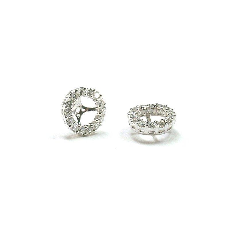 Murphy Pitard Signature Collection Diamond Halo 1/5 Carat Earring Jackets