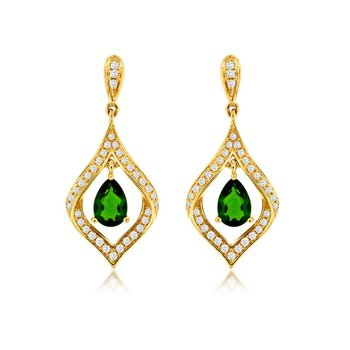 Russalite & Diamond Dangle Earrings