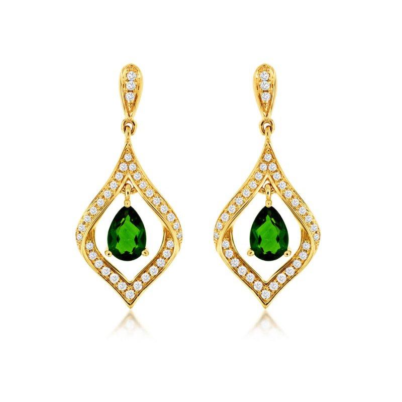 Murphy Pitard Signature Collection Russalite & Diamond Dangle Earrings
