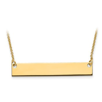 Medium Engravable Bar Necklace