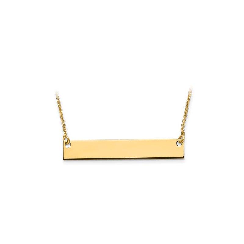 Murphy Pitard Signature Collection Medium Engravable Bar Necklace